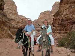 Photo: David and Giselle on the mountains above Petra